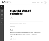 The Sign of Solutions