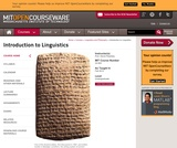 Introduction to Linguistics, Fall 2012