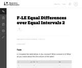 Equal Differences Over Equal Intervals 2