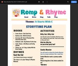Romp & Rhyme Storytime Lesson Plan: It Starts with C