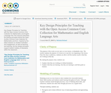 Key Design Principles for Teaching with the Open Access Common Core Collection for Mathematics and English Language Arts