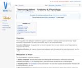 Thermoregulation - Anatomy & Physiology