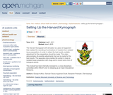 Setting Up the Harvard Kymograph