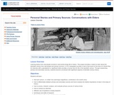 Personal Stories and Primary Sources: Conversations with Elders