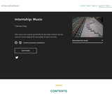 Internship: Music
