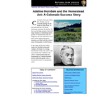 Adeline Hornbek and the Homestead Act: A Colorado Success Story