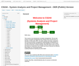 CS 244 - System Analysis and Project Management - OER (Public) Version