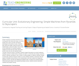 Evolutionary Engineering: Simple Machines from Pyramids to Skyscrapers