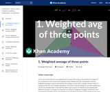 1. Weighted average of three points