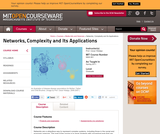 Networks, Complexity and Its Applications, Spring 2011