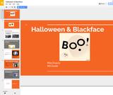 Halloween & Blackface