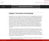 Research Methods in Psychology – 2nd Canadian Edition