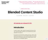 Blended Content Studio – Emergency Online Teaching at WSU Vancouver
