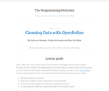 The Programming Historian 2: Cleaning Data with OpenRefine