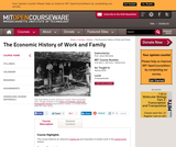 The Economic History of Work and Family, Spring 2005