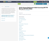 Aiello Powers Settlemyer Adult Learning IDT 773 Spring 2019 DFL FINAL