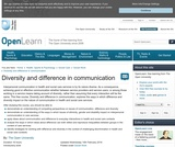 Diversity and Difference in Communication