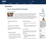How is Young Adulthood Changing?