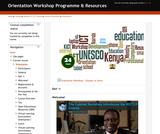 Orientation Workshop Programme & Resources