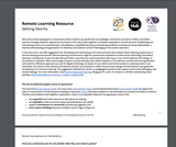 Remote Learning Resources - Setting Argreements