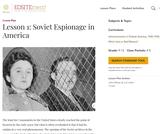 Lesson 1: Soviet Espionage in America
