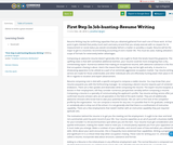 First Step In Job-hunting-Resume Writing