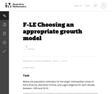 F-LE Choosing an appropriate growth model