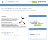 Bouncing Balls (for High School)