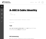 A-SSE A Cubic Identity
