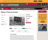 Media in Cultural Context, Spring 2007