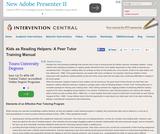 Kids as Reading Helpers: A Peer Tutor Training Manual
