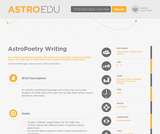 AstroPoetry Writing
