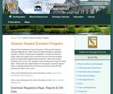 California Geological Survey: Seismic Hazards Zonation Program