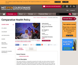 Comparative Health Policy, Fall 2004