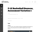 F-LE Basketball Bounces, Assessment Variation 1