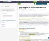 German 101, Lab 10: Diskussionsfragen / Food, Novice mid