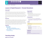 CS Principles 2019-2020 2.6: Rapid Research - Format Showdown