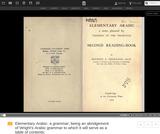 Thornton's Arabic Series Volume III, Elementary Arabic, Second Reading-Book
