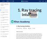 1. Ray tracing intuition