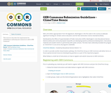 OER Commons Submission Guidelines - ClimeTime Remix