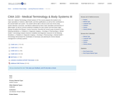 CMA 103 - Medical Terminology & Body Systems 3
