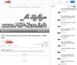 PHP Tutorial deutsch #2: erstes PHP Programm / Hallo Welt