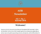 AER Newsletter: Summer 2019