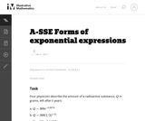 Forms of exponential expressions