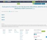 Guía para la creación y uso de recursos educativos abiertos en la biblioteca OER Commons