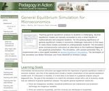 General Equilibrium Simulation for Microeconomics