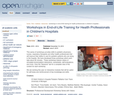 Workshops in End-of-Life Training for Health Professionals in Children's Hospitals