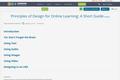 Principles of Design for Online Learning: A Short Guide