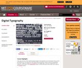 Digital Typography, Fall 1997