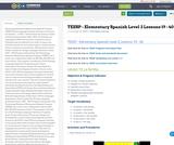 TEESP - Elementary Spanish Level 2 Lessons 19 - 40